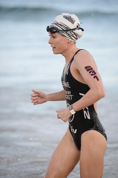 Charlotte McShane - Swim Leg - 2016 Noosa Triathlon, Noosa Heads, Sunshine Coast, Queensland, Australia; 30 October. Camera 2. Photos by Des Thureson - disci.smugmug.com