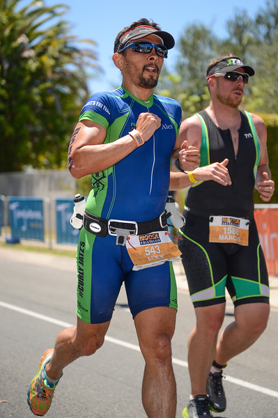 Alex ATZORI - Run Leg - 2016 Noosa Triathlon, Noosa Heads, Sunshine Coast, Queensland, Australia; 30 October. Camera 2. Photos by Des Thureson - disci.smugmug.com