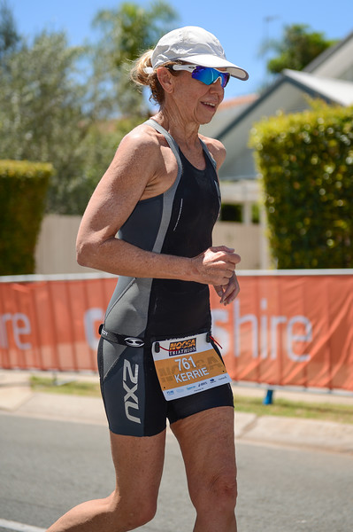 Kerrie BLENCOWE - Run Leg - 2016 Noosa Triathlon, Noosa Heads, Sunshine Coast, Queensland, Australia; 30 October. Camera 2. Photos by Des Thureson - disci.smugmug.com