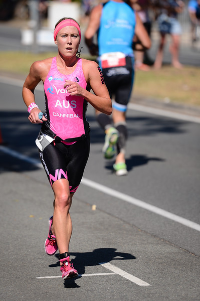 Kirralee Seidel - Run Leg - 2016 Noosa Triathlon, Noosa Heads, Sunshine Coast, Queensland, Australia; 30 October. Camera 2. Photos by Des Thureson - disci.smugmug.com