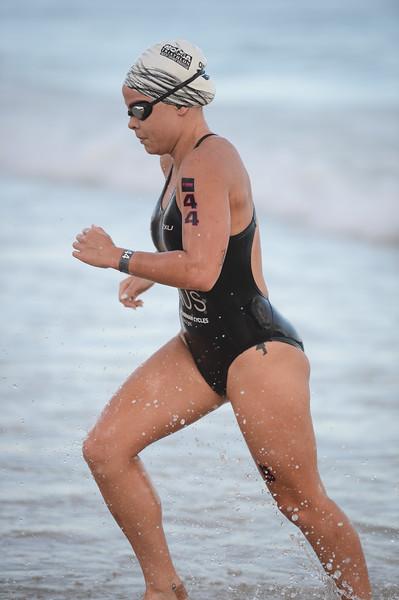Tamsyn MOANA VEALE - Swim Leg - 2016 Noosa Triathlon, Noosa Heads, Sunshine Coast, Queensland, Australia; 30 October. Camera 2. Photos by Des Thureson - disci.smugmug.com