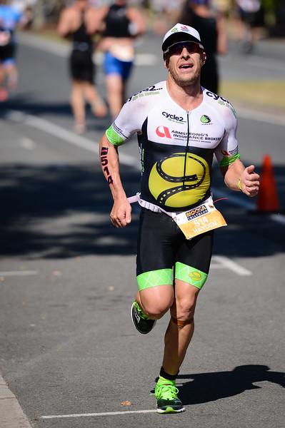 Hayden ARMSTRONG - Run Leg - 2016 Noosa Triathlon, Noosa Heads, Sunshine Coast, Queensland, Australia; 30 October. Camera 2. Photos by Des Thureson - disci.smugmug.com