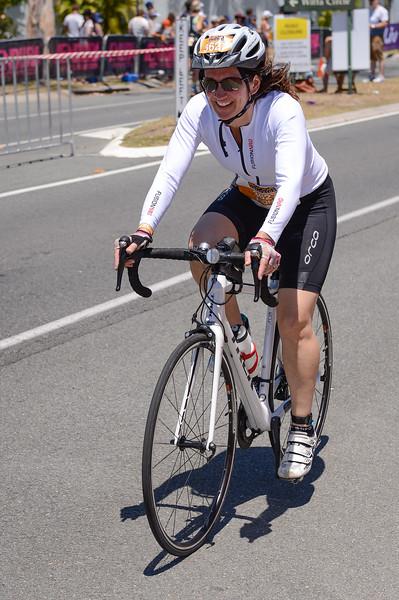 Fiona Pringle - Bike Leg - 2016 Noosa Triathlon, Noosa Heads, Sunshine Coast, Queensland, Australia; 30 October. Camera 2. Photos by Des Thureson - disci.smugmug.com