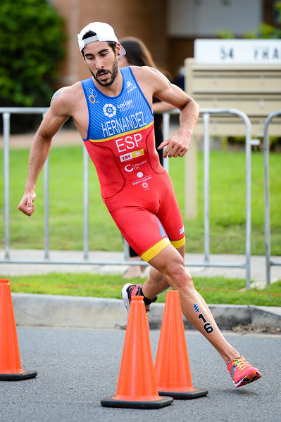 "Vicente Hernandez - 2017 Gold Coast ITU Men's WTS World Triathlon, Saturday 8 April 2017; Queensland, Australia. Camera 1. Photos by Des Thureson - <a href=""http://disci.smugmug.com"">http://disci.smugmug.com</a>."