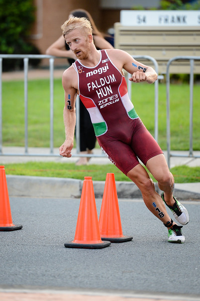 "Gábor Faldum - 2017 Gold Coast ITU Men's WTS World Triathlon, Saturday 8 April 2017; Queensland, Australia. Camera 1. Photos by Des Thureson - <a href=""http://disci.smugmug.com"">http://disci.smugmug.com</a>."