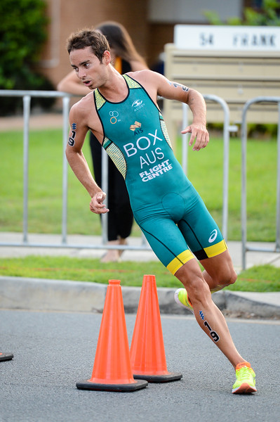 "Drew Box - 2017 Gold Coast ITU Men's WTS World Triathlon, Saturday 8 April 2017; Queensland, Australia. Camera 1. Photos by Des Thureson - <a href=""http://disci.smugmug.com"">http://disci.smugmug.com</a>."