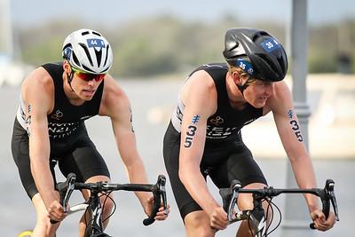 Trent Thorpe, Tayler Reid - 2017 Gold Coast ITU Men's WTS World Triathlon, Saturday 8 April 2017; Queensland, Australia. Camera 2. Photos by Des Thureson - http://disci.smugmug.com.