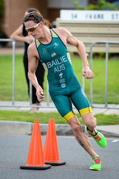 "Ryan Bailie - 2017 Gold Coast ITU Men's WTS World Triathlon, Saturday 8 April 2017; Queensland, Australia. Camera 1. Photos by Des Thureson - <a href=""http://disci.smugmug.com"">http://disci.smugmug.com</a>."