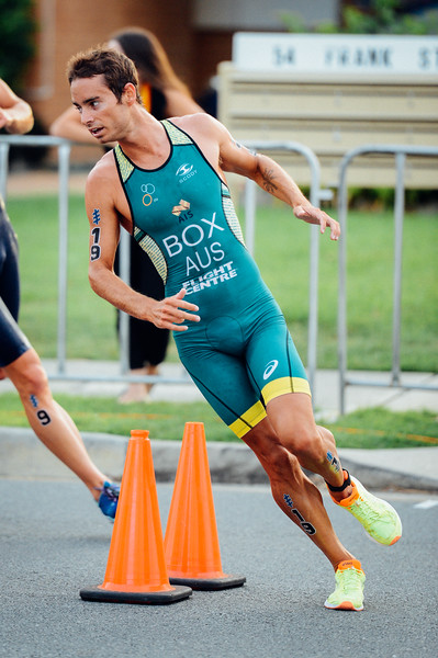"VSCO Film Preset: ""N - Kodak Gold 100 Contrast +"" - Drew Box - 2017 Gold Coast ITU Men's WTS World Triathlon, Saturday 8 April 2017; Queensland, Australia. Camera 1. Photos by Des Thureson - <a href=""http://disci.smugmug.com"">http://disci.smugmug.com</a>."