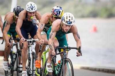 Matthew Baker - 2017 Gold Coast ITU Men's WTS World Triathlon, Saturday 8 April 2017; Queensland, Australia. Camera 2. Photos by Des Thureson - http://disci.smugmug.com.
