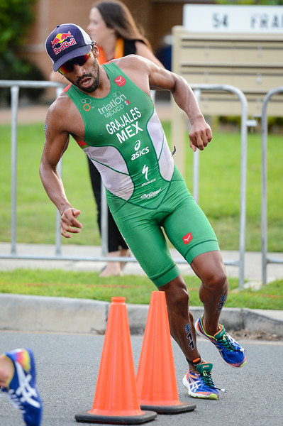 "Crisanto Grajales - 2017 Gold Coast ITU Men's WTS World Triathlon, Saturday 8 April 2017; Queensland, Australia. Camera 1. Photos by Des Thureson - <a href=""http://disci.smugmug.com"">http://disci.smugmug.com</a>."