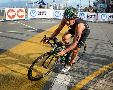 Jumpei Furuya - 2017 Gold Coast ITU Men's WTS World Triathlon, Saturday 8 April 2017; Queensland, Australia. Camera 1. Photos by Des Thureson - http://disci.smugmug.com.