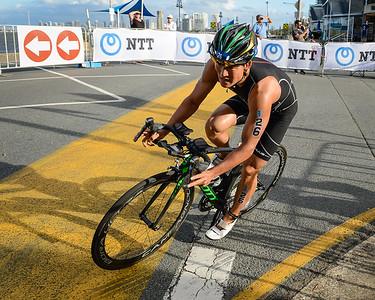 Jumpei Furuya - 2017 Gold Coast ITU Men's WTS World Triathlon, Saturday 8 April 2017; Queensland, Australia. Camera 1. Photos by Des Thureson - http://disci.smugmug.com.