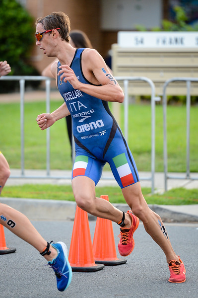 "Davide Uccellari - 2017 Gold Coast ITU Men's WTS World Triathlon, Saturday 8 April 2017; Queensland, Australia. Camera 1. Photos by Des Thureson - <a href=""http://disci.smugmug.com"">http://disci.smugmug.com</a>."