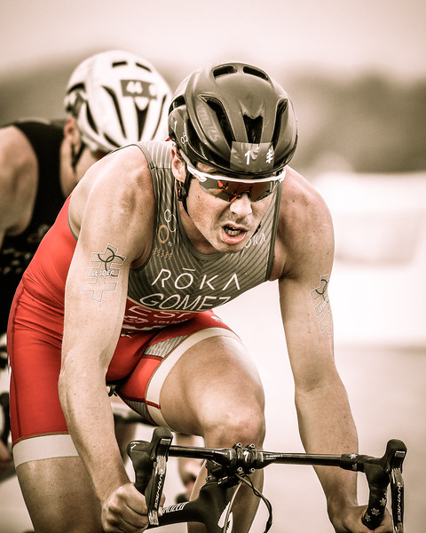 "Alternate Processing: ""The 300 Movie Look"" - Javier Gomez Noya - 2017 Gold Coast ITU Men's WTS World Triathlon, Saturday 8 April 2017; Queensland, Australia. Camera 2. Photos by Des Thureson - <a href=""http://disci.smugmug.com"">http://disci.smugmug.com</a>."