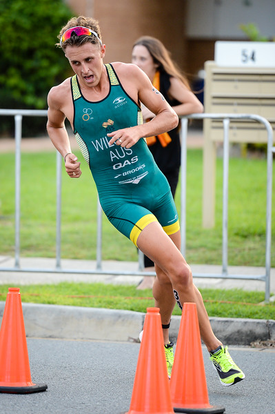 "Declan Wilson - 2017 Gold Coast ITU Men's WTS World Triathlon, Saturday 8 April 2017; Queensland, Australia. Camera 1. Photos by Des Thureson - <a href=""http://disci.smugmug.com"">http://disci.smugmug.com</a>."
