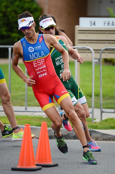 "Mario Mola - 2017 Gold Coast ITU Men's WTS World Triathlon, Saturday 8 April 2017; Queensland, Australia. Camera 1. Photos by Des Thureson - <a href=""http://disci.smugmug.com"">http://disci.smugmug.com</a>."