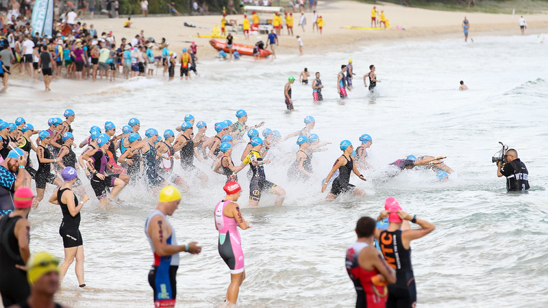 Swim Leg, Race Start, Noosa Main Beach
