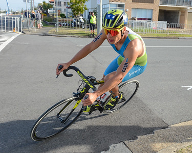 Domen Dornik - Bike Leg - 2018 Gold Coast World Triathlon Men's WTS Grand Final, Sunday 16 September 2018; Queensland, Australia. Camera 1. Photos by Des Thureson - http://disci.smugmug.com.