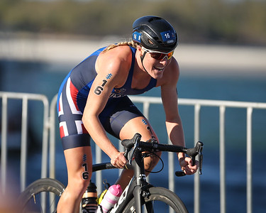 Lotte Miller - 2018 Gold Coast World Triathlon Women's WTS Grand Final, Saturday 15 September 2018; Queensland, Australia. Camera 2. Photos by Des Thureson - http://disci.smugmug.com.