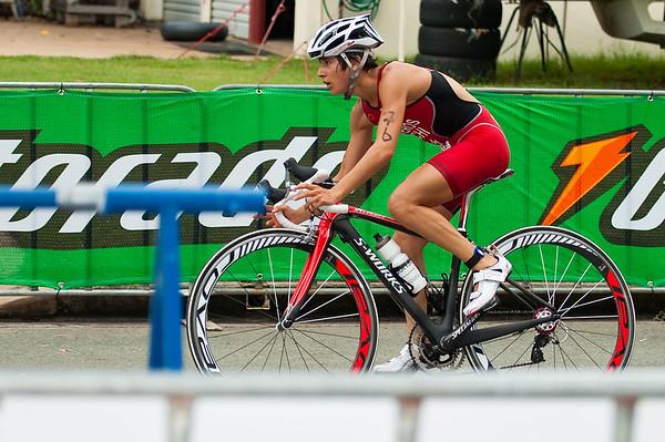Winner Barbara Riveros Diaz - 2011 Caloundra Women's Enduro Triathlon for professional triathletes; Woorim Park, Golden Beach, Caloundra, Sunshine Coast, Queensland, Australia; 6 February 2011. Photos by Des Thureson.