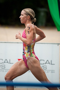 2nd place-getter Liz Blatchford - 2011 Caloundra Women's Enduro Triathlon for professional triathletes; Woorim Park, Golden Beach, Caloundra, Sunshine Coast, Queensland, Australia; 6 February 2011. Photos by Des Thureson.