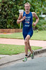 Race Winner Jesse Featonby - 2011 Caloundra Enduro Triathlon for professional triathletes (men's event); Woorim Park, Golden Beach, Caloundra, Sunshine Coast, Queensland, Australia; 6 February 2011. Photos by Des Thureson.