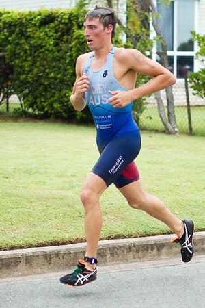 Jack Hickey - 2011 Caloundra Enduro Triathlon for professional triathletes (men's event); Woorim Park, Golden Beach, Caloundra, Sunshine Coast, Queensland, Australia; 6 February 2011. Photos by Des Thureson.