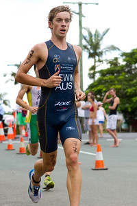 James Lewin - 2011 Caloundra Enduro Triathlon for professional triathletes (men's event); Woorim Park, Golden Beach, Caloundra, Sunshine Coast, Queensland, Australia; 6 February 2011. Photos by Des Thureson.