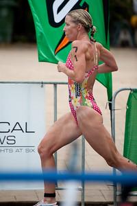 Liz Blatchford - 2011 Caloundra Women's Enduro Triathlon for professional triathletes; Woorim Park, Golden Beach, Caloundra, Sunshine Coast, Queensland, Australia; 6 February 2011. Photos by Des Thureson.