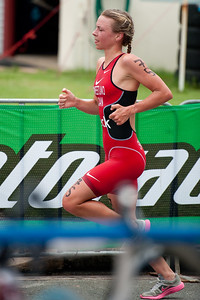 Kirsten Sweetland - 2011 Caloundra Women's Enduro Triathlon for professional triathletes; Woorim Park, Golden Beach, Caloundra, Sunshine Coast, Queensland, Australia; 6 February 2011. Photos by Des Thureson.