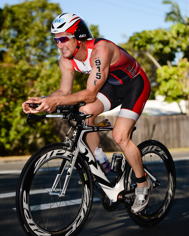 "Jason Schoenauer - Bike Leg - Ironman 70.3 Sunshine Coast 2013; Mooloolaba, Queensland, Australia. Camera 1. Photos by Des Thureson - <a href=""http://disci.smugmug.com"">http://disci.smugmug.com</a>."