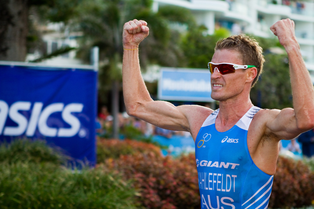 "Brad Kahlefeldt - 2011 Mooloolaba ITU World Cup Triathlon - Men. Mooloolaba Triathlon Festival, Saturday 26 March 2011, Sunshine Coast, Queensland, Australia. Photos by Des Thureson:  <a href=""http://disci.smugmug.com"">http://disci.smugmug.com</a>"