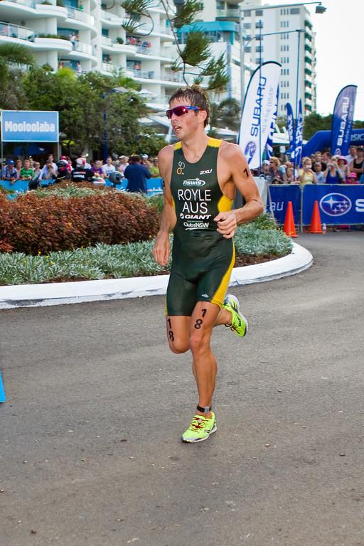 "Aaron Royle - 2011 Mooloolaba ITU World Cup Triathlon - Men. Mooloolaba Triathlon Festival, Saturday 26 March 2011, Sunshine Coast, Queensland, Australia. Photos by Des Thureson:  <a href=""http://disci.smugmug.com"">http://disci.smugmug.com</a>"