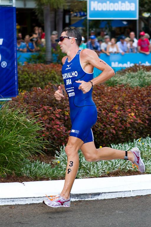"""Fabio Carvalho - 2011 Mooloolaba ITU World Cup Triathlon - Men. Mooloolaba Triathlon Festival, Saturday 26 March 2011, Sunshine Coast, Queensland, Australia. Photos by Des Thureson:  <a href=""""http://disci.smugmug.com"""">http://disci.smugmug.com</a>"""
