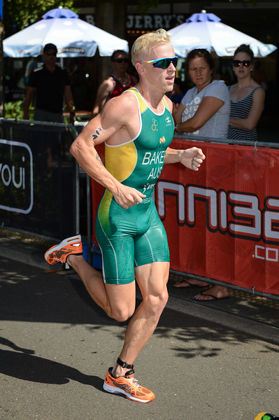 "Matthew Baker - 2015 Mooloolaba ITU Triathlon World Cup Men - 2015 Mooloolaba Triathlon Multi Sport Festival, Sunshine Coast, Qld, AUS; Saturday 14 March 2015. Photos by Des Thureson - <a href=""http://disci.smugmug.com"">http://disci.smugmug.com</a>. Camera 1."