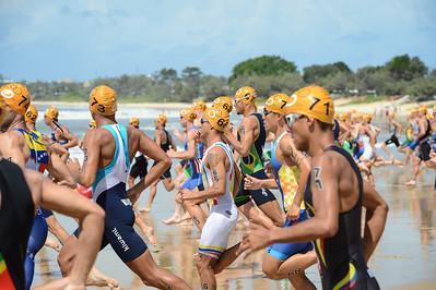2015 Mooloolaba ITU Triathlon World Cup Men - 2015 Mooloolaba Triathlon Multi Sport Festival, Sunshine Coast, Qld, AUS; Saturday 14 March 2015. Photos by Des Thureson - http://disci.smugmug.com. Camera 1.