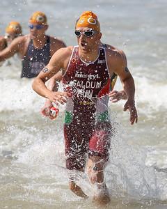 Gabor Faldum - 2015 Mooloolaba ITU Triathlon World Cup Men - 2015 Mooloolaba Triathlon Multi Sport Festival, Sunshine Coast, Qld, AUS; Saturday 14 March 2015. Photos by Des Thureson - http://disci.smugmug.com. Camera 2.