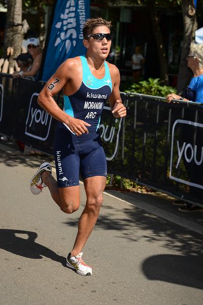 "Flavio Morandini - 2015 Mooloolaba ITU Triathlon World Cup Men - 2015 Mooloolaba Triathlon Multi Sport Festival, Sunshine Coast, Qld, AUS; Saturday 14 March 2015. Photos by Des Thureson - <a href=""http://disci.smugmug.com"">http://disci.smugmug.com</a>. Camera 1."