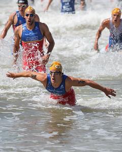 Pablo Dapena Gonzalez - 2015 Mooloolaba ITU Triathlon World Cup Men - 2015 Mooloolaba Triathlon Multi Sport Festival, Sunshine Coast, Qld, AUS; Saturday 14 March 2015. Photos by Des Thureson - http://disci.smugmug.com. Camera 2.