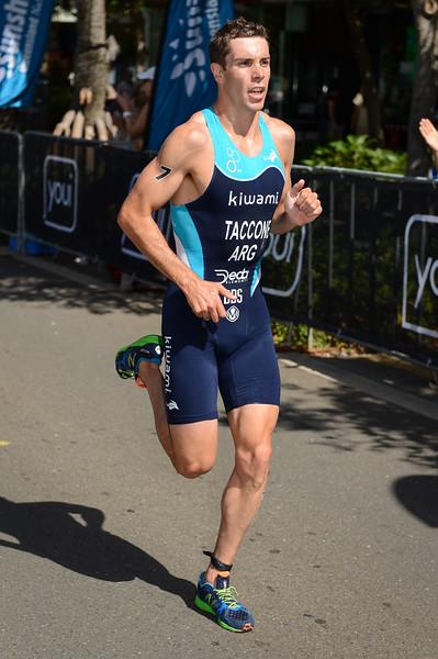"Luciano Taccone - 2015 Mooloolaba ITU Triathlon World Cup Men - 2015 Mooloolaba Triathlon Multi Sport Festival, Sunshine Coast, Qld, AUS; Saturday 14 March 2015. Photos by Des Thureson - <a href=""http://disci.smugmug.com"">http://disci.smugmug.com</a>. Camera 1."