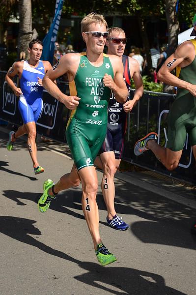 "Jesse Featonby - 2015 Mooloolaba ITU Triathlon World Cup Men - 2015 Mooloolaba Triathlon Multi Sport Festival, Sunshine Coast, Qld, AUS; Saturday 14 March 2015. Photos by Des Thureson - <a href=""http://disci.smugmug.com"">http://disci.smugmug.com</a>. Camera 1."
