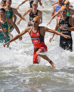 Tyler Mislawchuk - 2015 Mooloolaba ITU Triathlon World Cup Men - 2015 Mooloolaba Triathlon Multi Sport Festival, Sunshine Coast, Qld, AUS; Saturday 14 March 2015. Photos by Des Thureson - http://disci.smugmug.com. Camera 2.