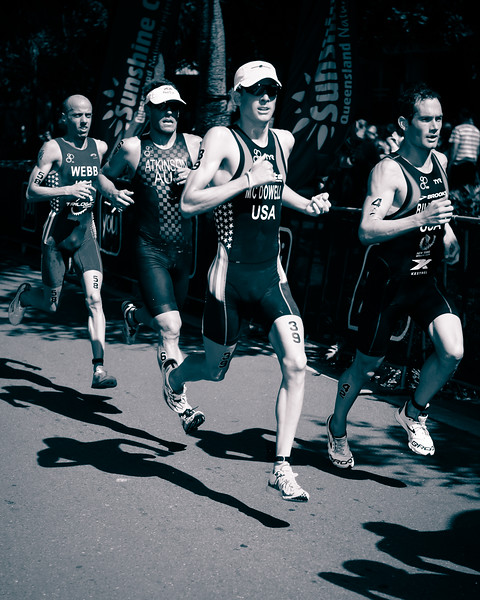 "alternate processing, Silver Lining pretty presets - Gregory Billington, Kevin McDowell, Courtney Atkinson - 2015 Mooloolaba ITU Triathlon World Cup Men - 2015 Mooloolaba Triathlon Multi Sport Festival, Sunshine Coast, Qld, AUS; Saturday 14 March 2015. Photos by Des Thureson - <a href=""http://disci.smugmug.com"">http://disci.smugmug.com</a>. Camera 1."