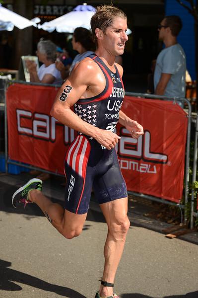 "Sean Jefferson - 2015 Mooloolaba ITU Triathlon World Cup Men - 2015 Mooloolaba Triathlon Multi Sport Festival, Sunshine Coast, Qld, AUS; Saturday 14 March 2015. Photos by Des Thureson - <a href=""http://disci.smugmug.com"">http://disci.smugmug.com</a>. Camera 1."
