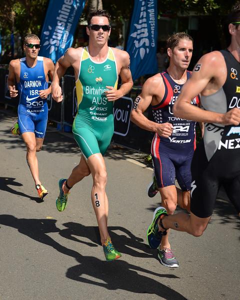 "Jacob Birtwhistle - 2015 Mooloolaba ITU Triathlon World Cup Men - 2015 Mooloolaba Triathlon Multi Sport Festival, Sunshine Coast, Qld, AUS; Saturday 14 March 2015. Photos by Des Thureson - <a href=""http://disci.smugmug.com"">http://disci.smugmug.com</a>. Camera 1."