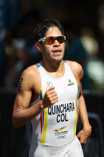 "Carlos Javier Quinchara Forero - 2015 Mooloolaba ITU Triathlon World Cup Men - 2015 Mooloolaba Triathlon Multi Sport Festival, Sunshine Coast, Qld, AUS; Saturday 14 March 2015. Photos by Des Thureson - <a href=""http://disci.smugmug.com"">http://disci.smugmug.com</a>. Camera 2."