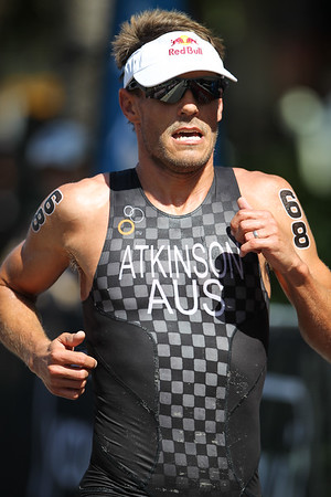 Courtney Atkinson - 2015 Mooloolaba ITU Triathlon World Cup Men - 2015 Mooloolaba Triathlon Multi Sport Festival, Sunshine Coast, Qld, AUS; Saturday 14 March 2015. Photos by Des Thureson - http://disci.smugmug.com. Camera 2.