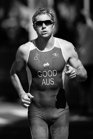 alternate processing, orange filter - Cameron Good - 2015 Mooloolaba ITU Triathlon World Cup Men - 2015 Mooloolaba Triathlon Multi Sport Festival, Sunshine Coast, Qld, AUS; Saturday 14 March 2015. Photos by Des Thureson - http://disci.smugmug.com. Camera 2.