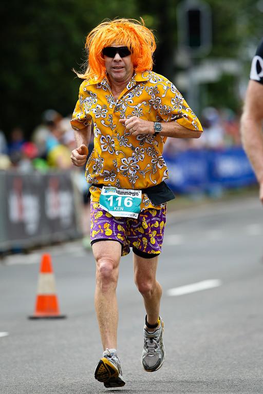 Orange Hair & - In The Spirit - Costume - Run Leg - 2012 Mooloolaba Triathlon; Sunshine Coast, Queensland, Australia; Sunday 25 March 2012. Photos by Des Thureson - disci.smugmug.com.